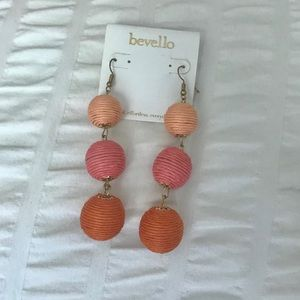 NWT Bevello Drop Statement Earrings